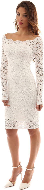 PattyBoutik Womens Off Shoulder Twin Set Floral Lace Dress