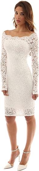 Women Off Shoulder Floral Lace Semi Casual Dress
