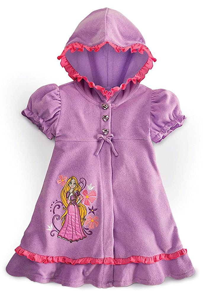 Disney Store Tangled Princess Rapunzel Purple Swimsuit Cover-Up Size XS 4 4T