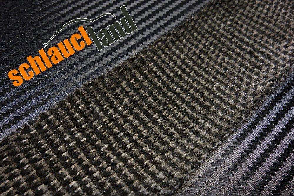 15m Hitzeschutzband 50mm schwarz SCHLAUCHLAND*** Auspuffband Thermoband Kr/ümmerband Heat Wrap Basaltfaser Isolierband