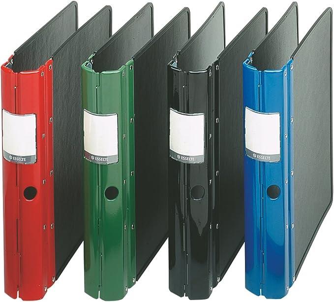 ESSELTE 46687 - Carpeta archivador AGRIPPA DIN A4 capacidad 50 mm lomo metálico 4 anillas color negro: Amazon.es: Oficina y papelería