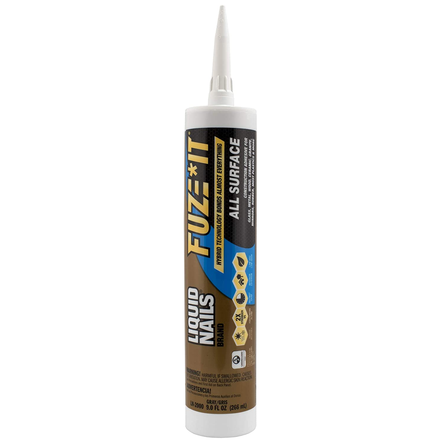 LIQUID NAILS LN-2000 FuzeIt All Surface Construction Adhesive (9-Ounce)