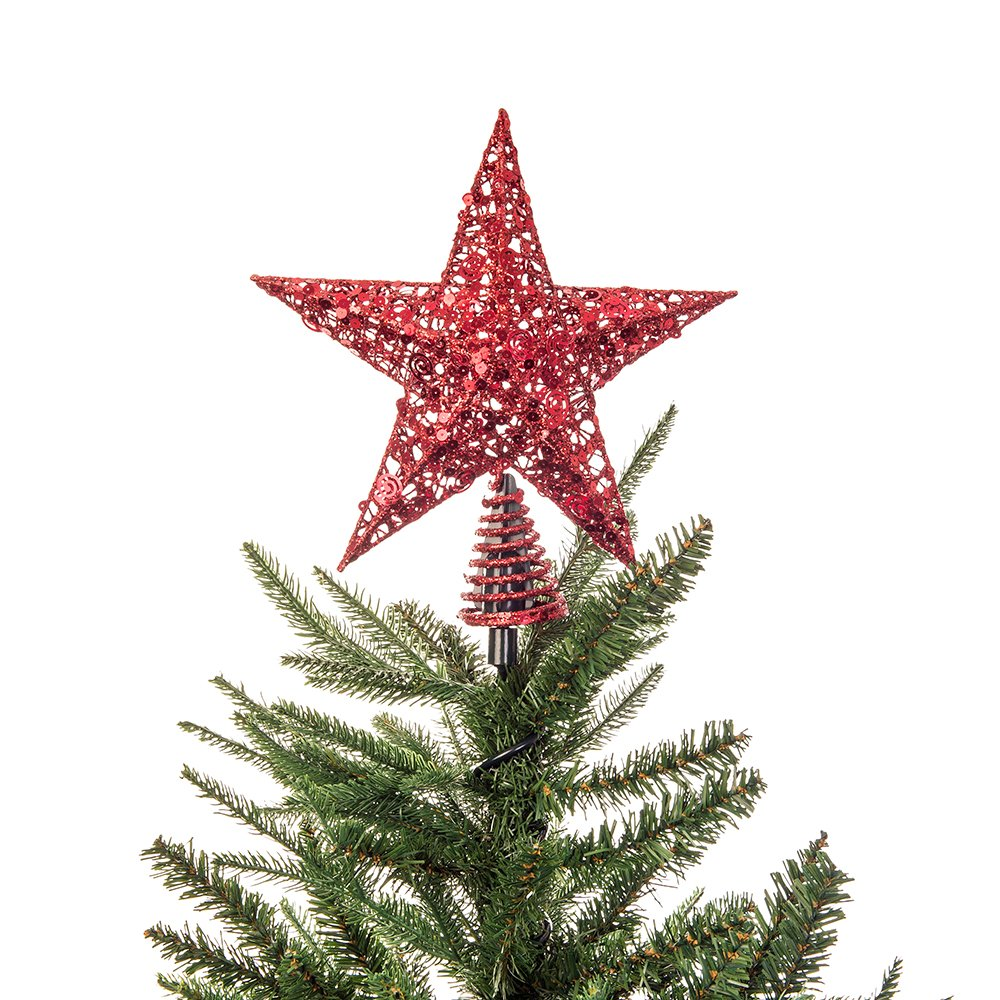 christmas twist on holiday universal tree topper holder metal