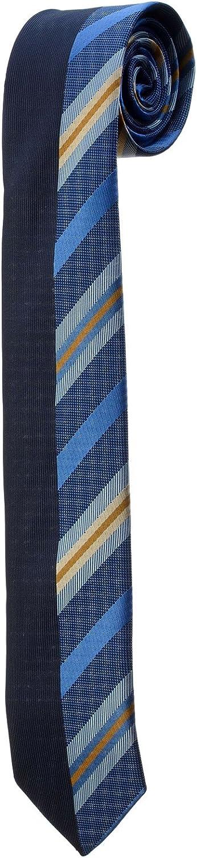 Oh La Belle Cravate Corbata Fine azul bicolor, rayas, amarillas ...