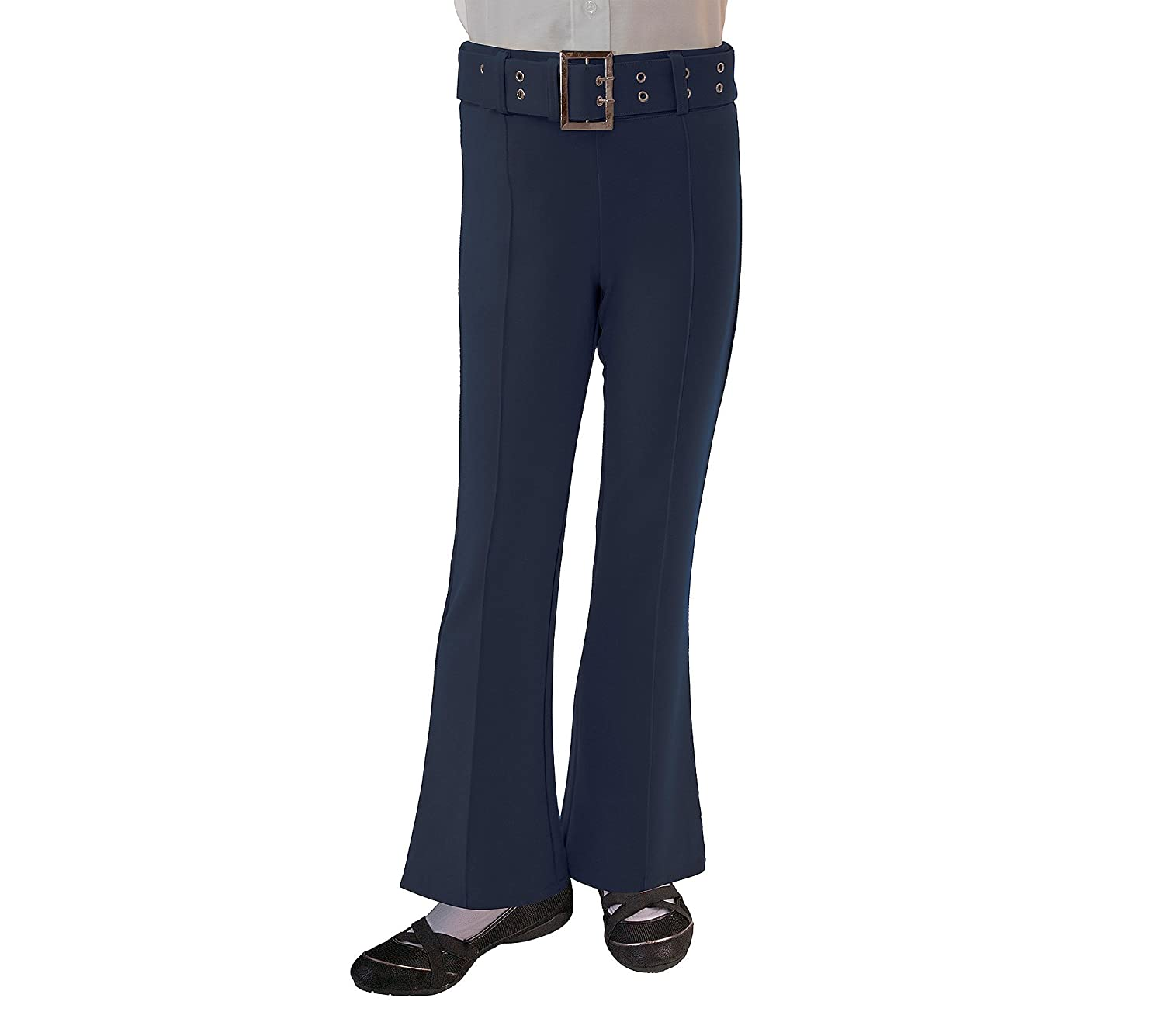 French Toast School Uniform Girls Pull On Self Belt Pants - K9109