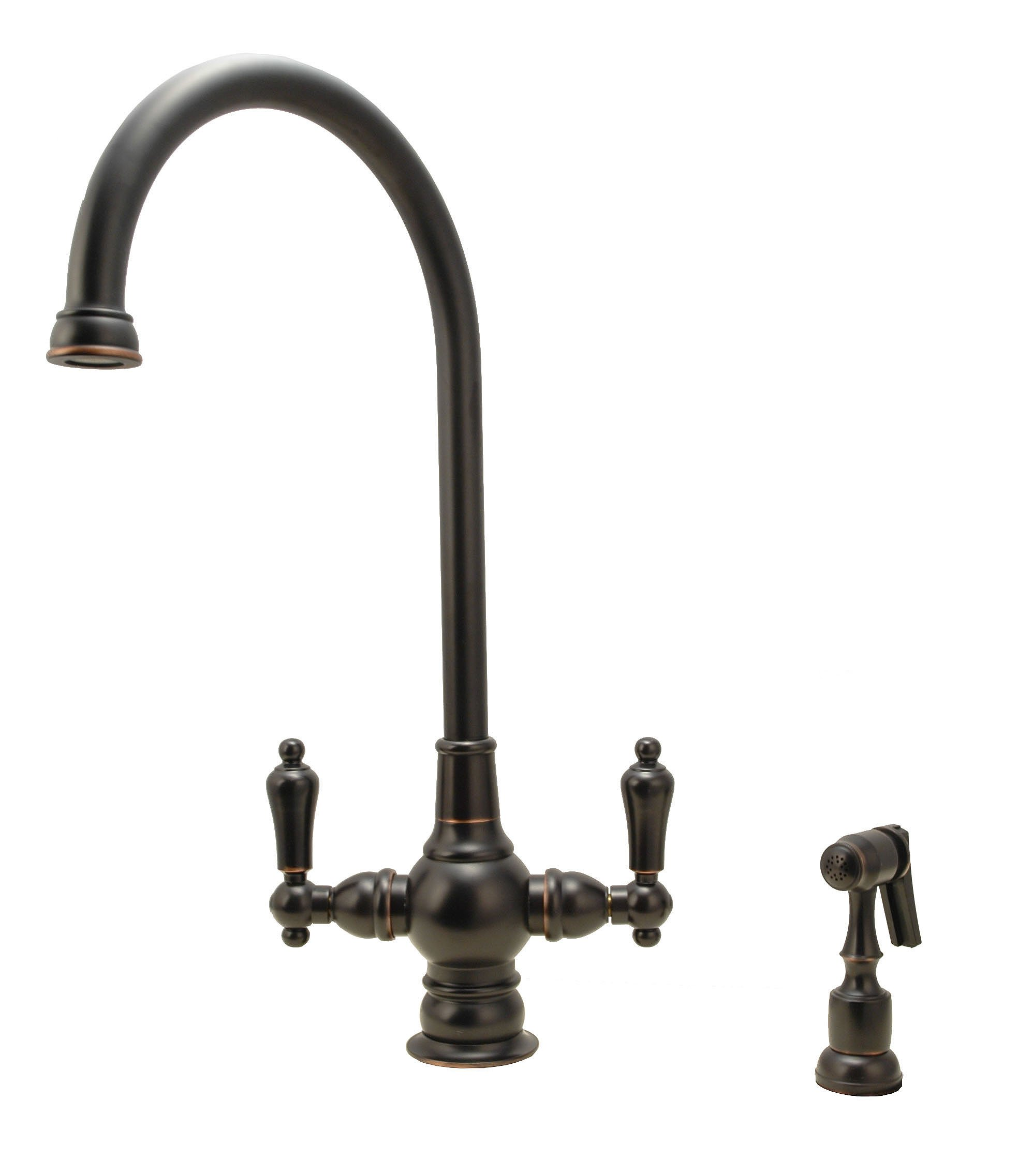 Kitchen Sink Faucet, Oil Rubbed Bronze Finish, Two-hole Installation - By Plumb USA 35295