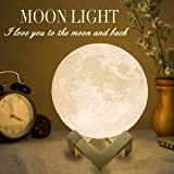 Mydethun Moon Lamp Large Moon Light Night Light for Kids Gift for Women USB Charging and Touch Control Brightness Two…