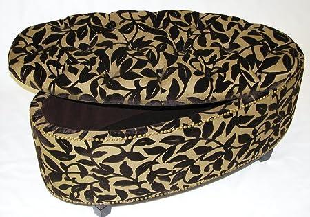 4D Concepts Ora Oval Ottoman Bench