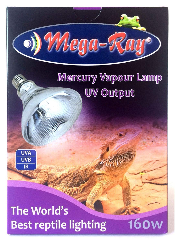 Mega-Ray Mercury Vapor Bulb - 160 Watts (120V) by Mega-Ray Pet Care