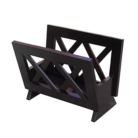 Frenchi Home Furnishing Contemporary Magazine Rack, Black
