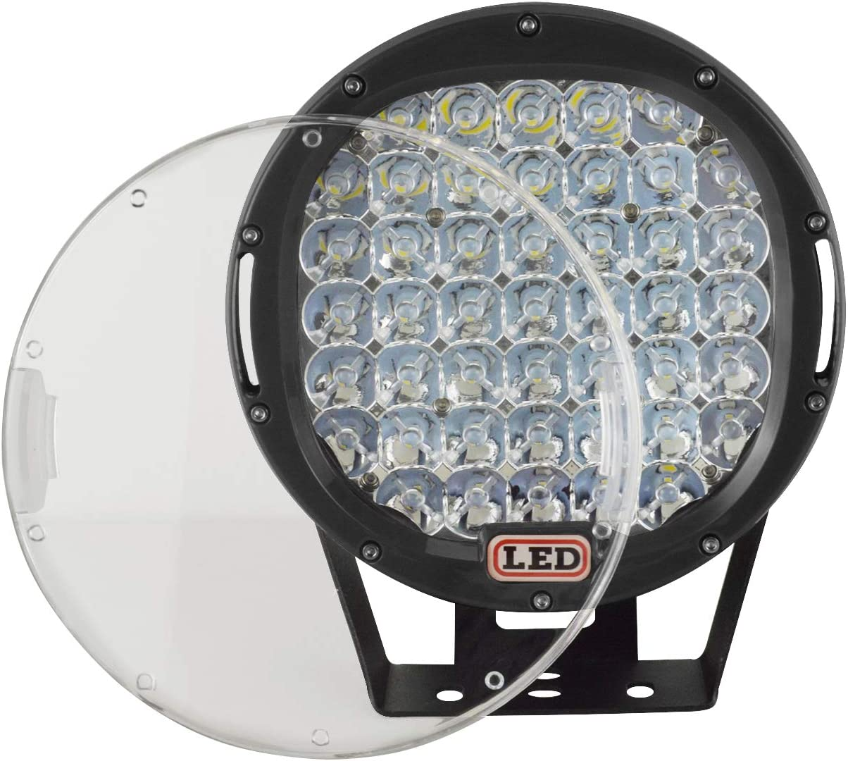 SKYWORLD 9 Zoll 22.86 cm 225W LED Arbeitsscheinwerfer IP67 Wasserdichtes Rundpunkt Flutlicht LED Autolicht f/ür 4x4 Offroad LKW Traktorboot Technikfahrzeuge 12V 24V Rot