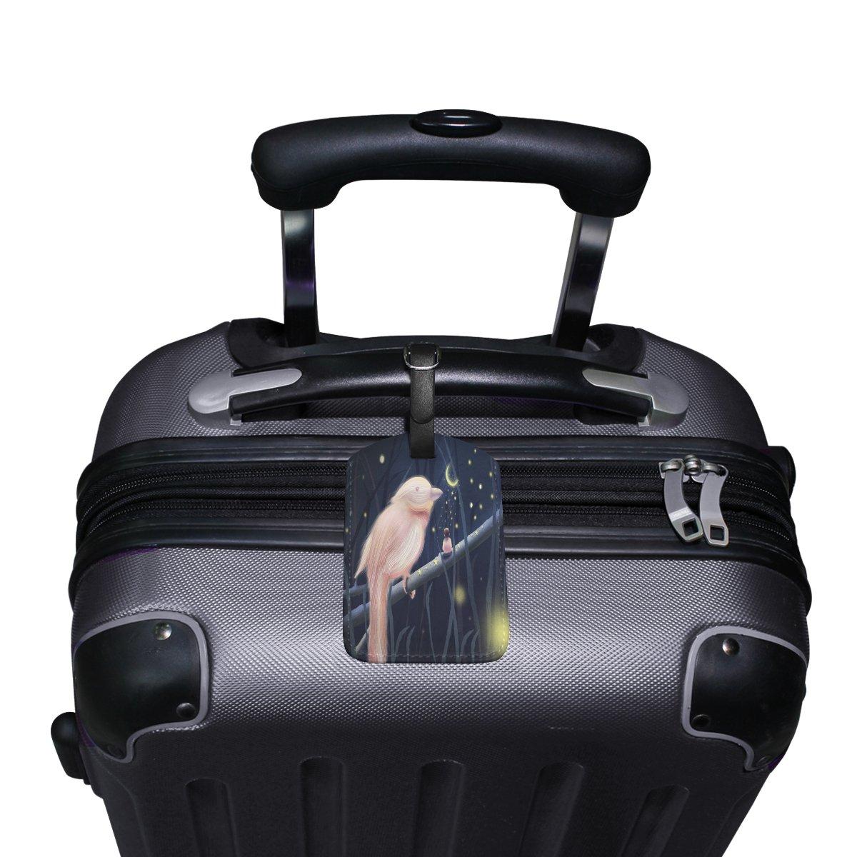Saobao Travel Luggage Tag Jungle And Boy PU Leather Baggage Suitcase Travel ID Bag Tag 1Pcs
