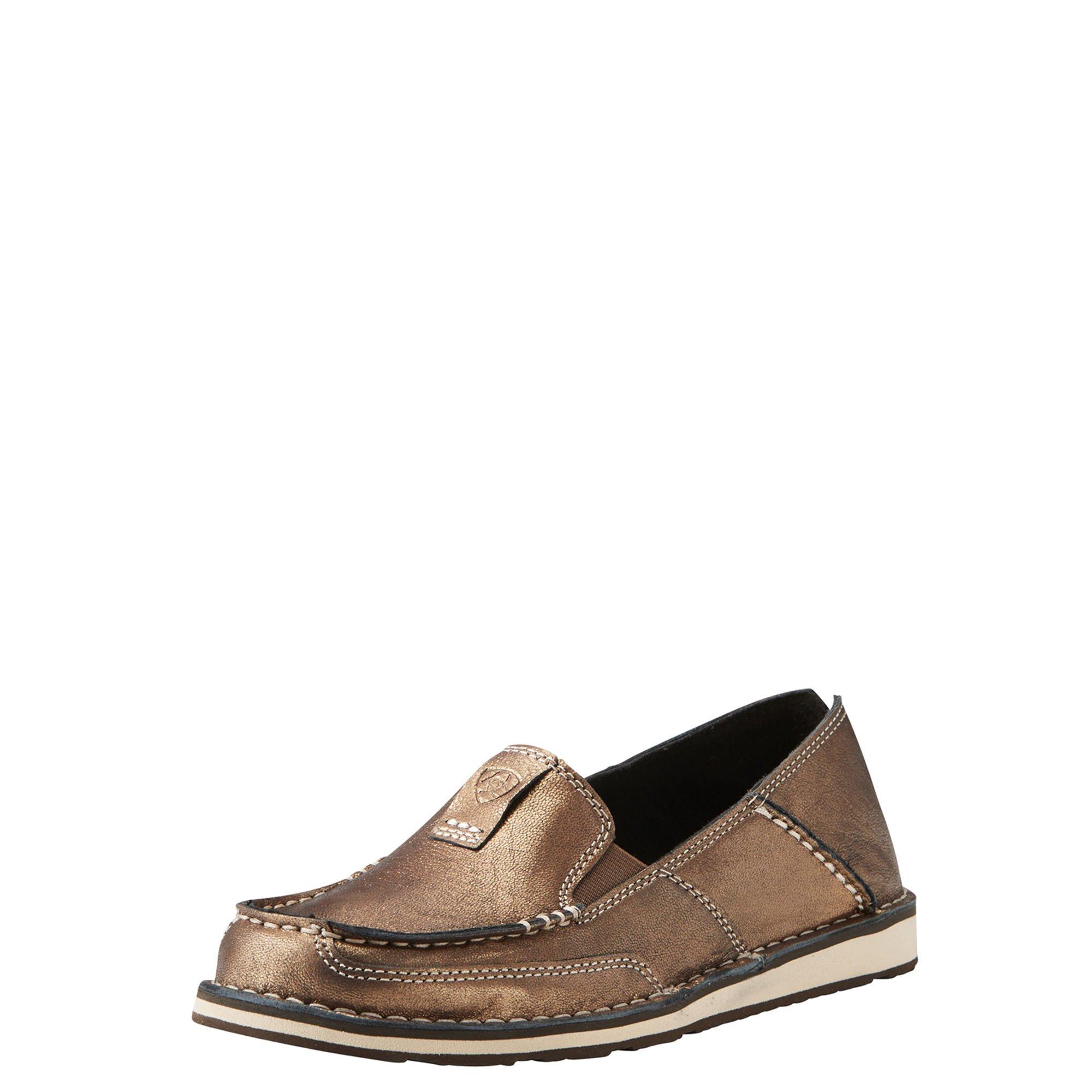 Ariat Women's Cruiser Slip-on Shoe, Metallic/Bronze, 8 B US
