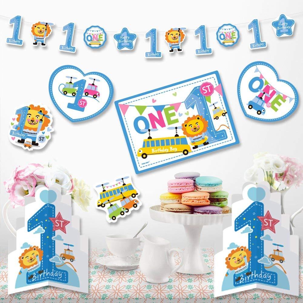 Baby 1st誕生日パーティーSwirl Hanging Decorationsキット  baby blue2 B0774R4C9P