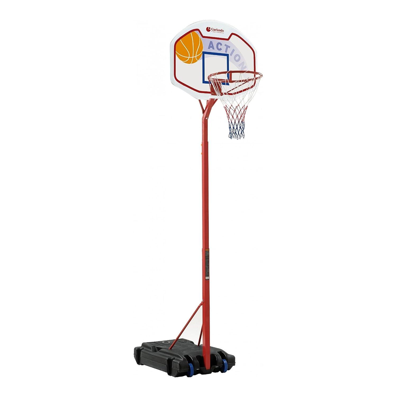 Garlando Tabellone da Basket con Colonna e Base Detroit Alt. 210-260 Cm B2_0458809 BA-22