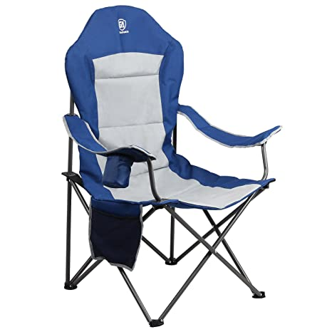 Groovy Ever Advanced Oversized Padded Quad Arm Chair Collapsible Steel Frame High Back Folding Camp Chair With Cup Holder Heavy Duty Supports 300 Lbs Dailytribune Chair Design For Home Dailytribuneorg
