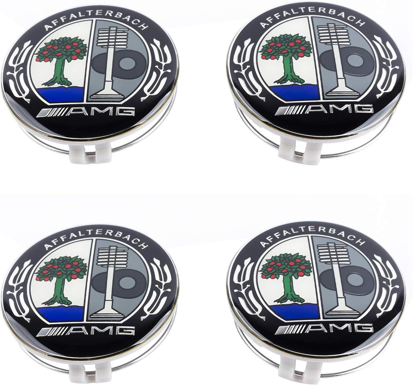SFONIA 4pcs 75MM Cache Moyeux Enjoliveurs de Roue pour Classe A B C E CLA CLS SLK ML GLK W204 W212 W210 W221 W220
