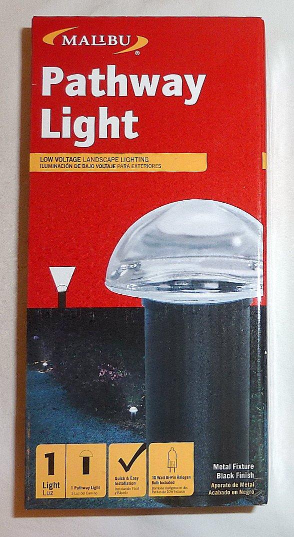 12 Pack Malibu 8301-9301-12 Mushroom Bollard Pathway Landscape Lights, 10 Watt. Glass Globe, Outdoor, in Black Gloss BY MALIBU DISTRIBUTION - - Amazon.com
