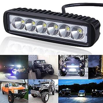 Xiangtat - Barra de luz LED para motocicleta de 15,2 cm y 18 W