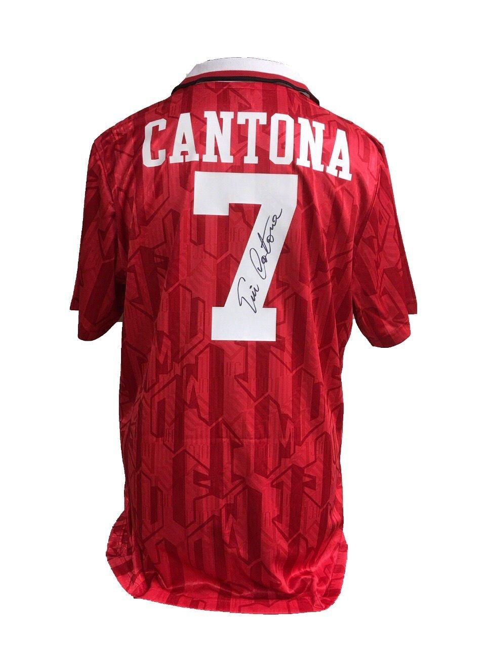 brand new ecdd2 686e2 Eric Cantona signed Manchester United official retro 1994 ...