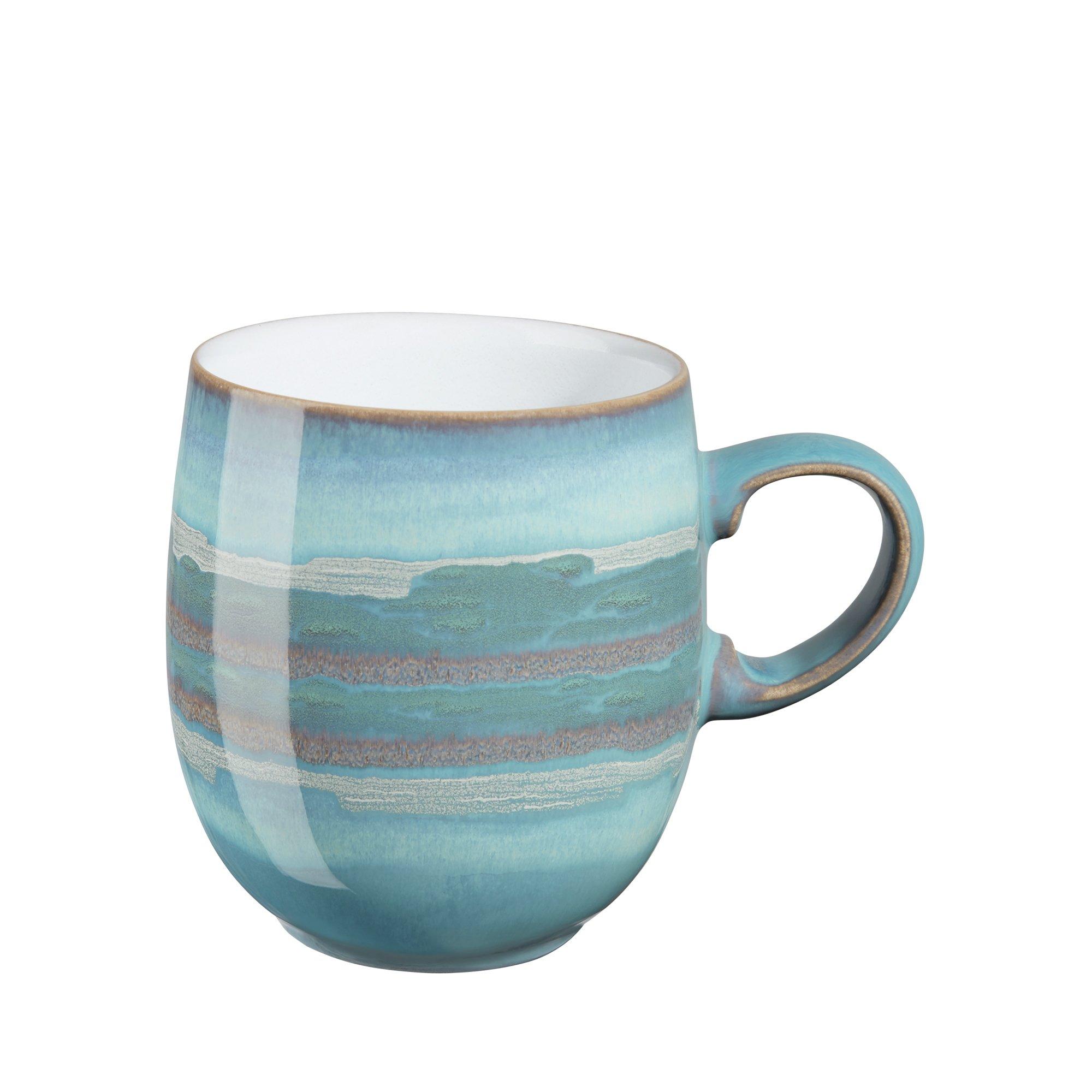 Denby Azure Coast Large Curve Mugs, Set of 4