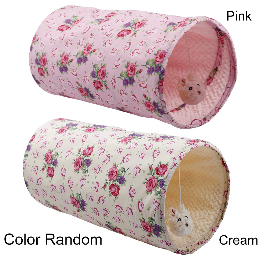 ALL FOR PAWS AFP Crinkle Cat Tunnel Cat Toys (Shabby Chic)