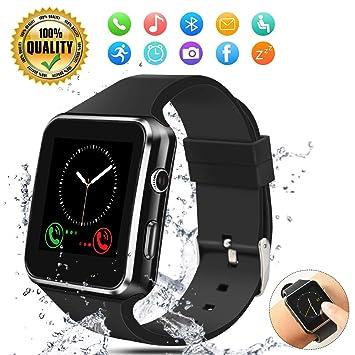 Smartwatch Reloj Inteligente Hombre Mujer niños Pulsera Actividad Inteligente Deporte Pantalla táctil con Ranura para Tarjeta SIM Cámara Podómetro ...