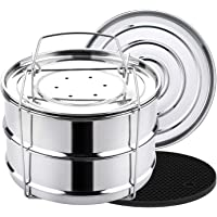 Aozita 3 Quart Stackable Steamer Insert Pans - Accessories for Instant Pot Mini 3 qt - Pot in Pot, Baking, Casseroles…