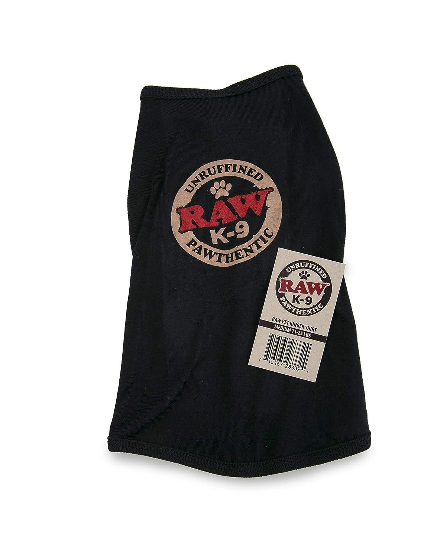 Medium RAW Natural Rolling Papers Dog K-9 Ringer Shirt (Medium)