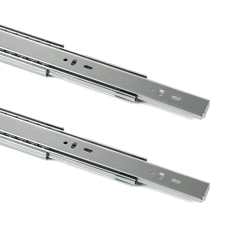 1 par (2 piezas) Guí a para cajó n de extracció n total y SoftClosing Alto 45 mm/L 450 mm Carril de cajó n SOTECH SD-450
