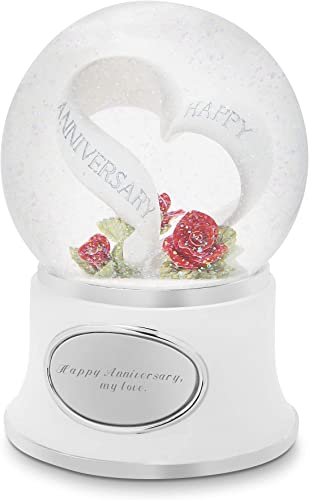 Things Remembered Personalized Anniversary Celebration Musical Snow Globe with Engraving Included