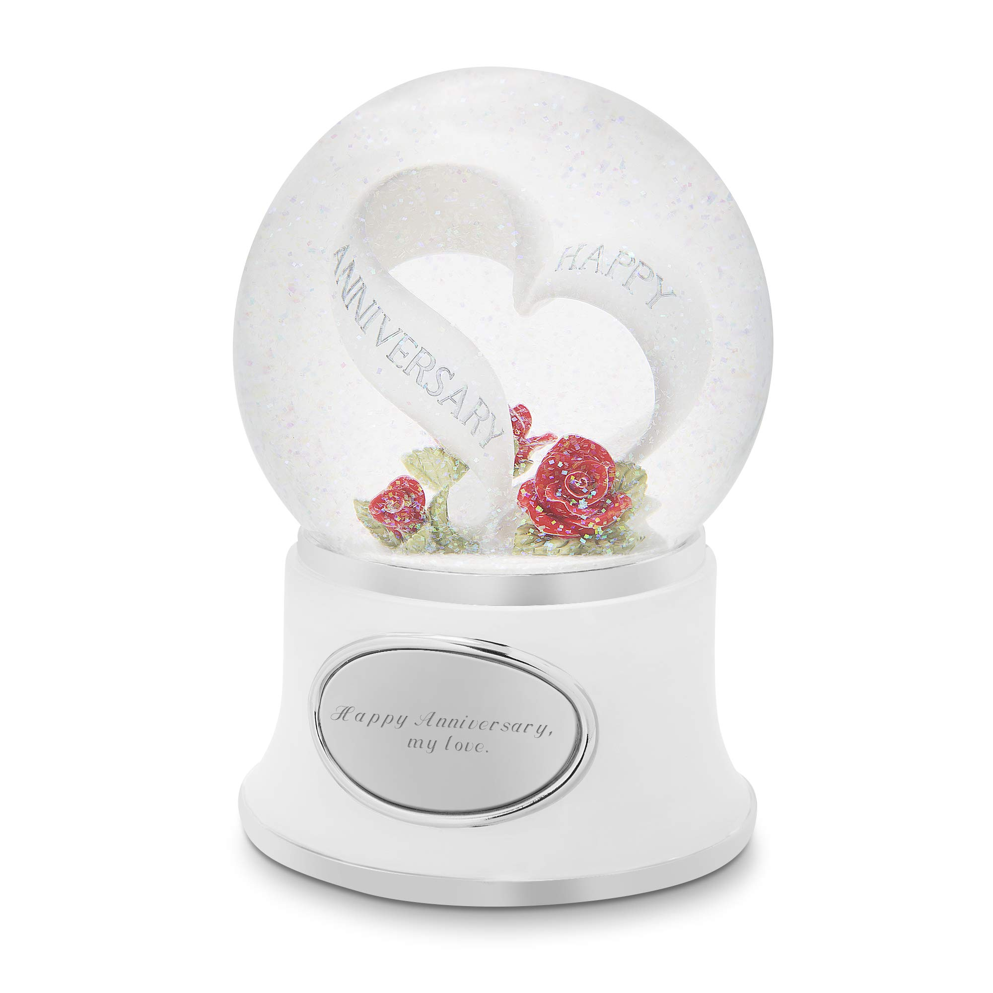 Things Remembered Personalized Anniversary Celebration Musical Snow Globe with Engraving Included by Things Remembered