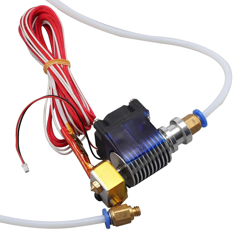 JUEYAN 2M Hotend Extruder 1, 75MM MK8 Dü se Anschlussstü cke + Teflonschlauch fü r 3D Drucker Bowden Extruder eom