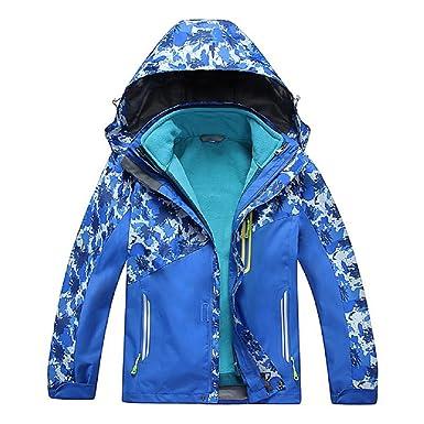 e08b36b91 Valentina Boys Girls Outdoor Winter Two-Piece Coat 3-1 Children Thicken  Velvet Detachable