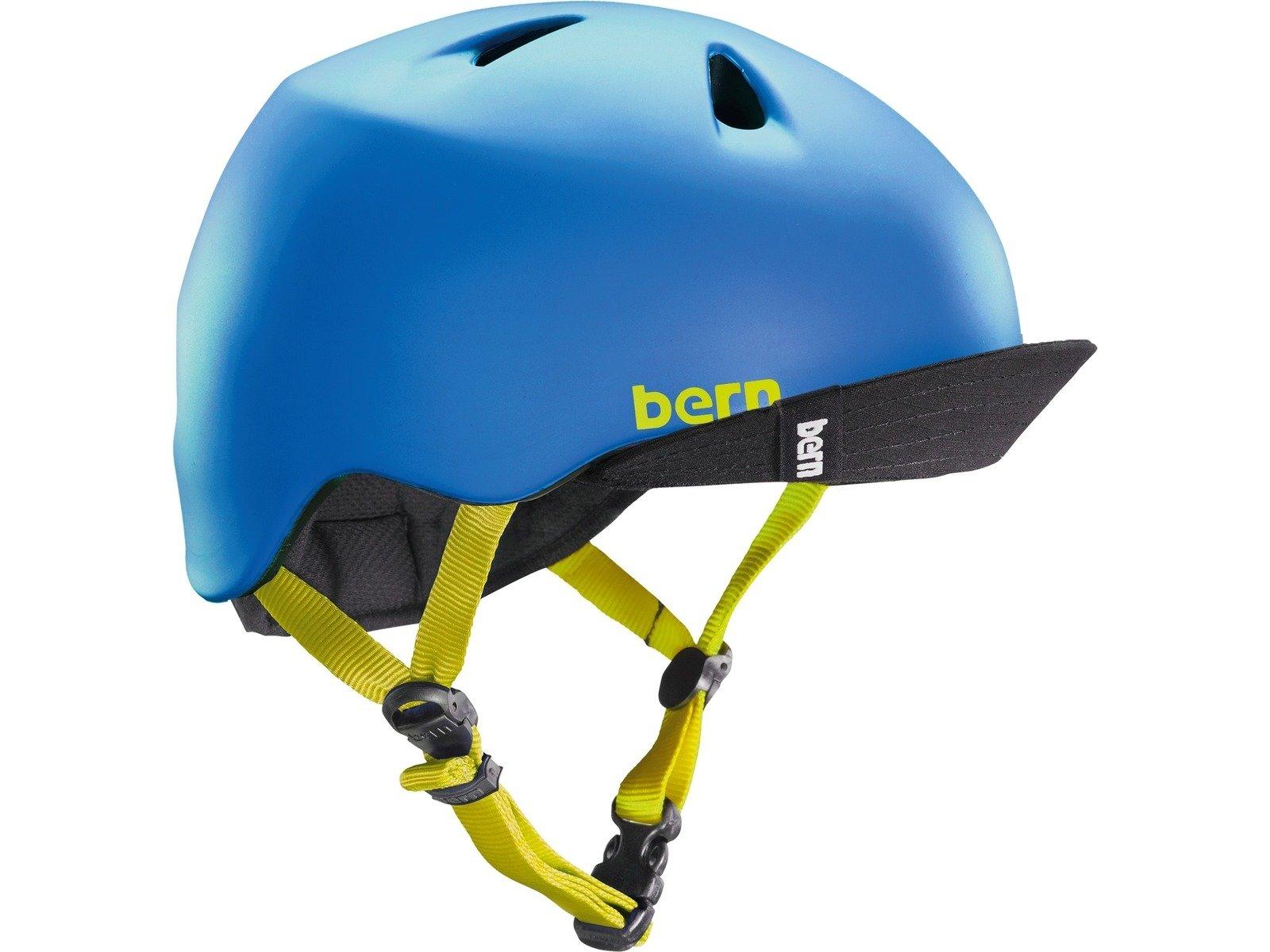 Bern Boy's Nino w/Visor Matte Blue XS/SM (48-51.5 CM Circumference)