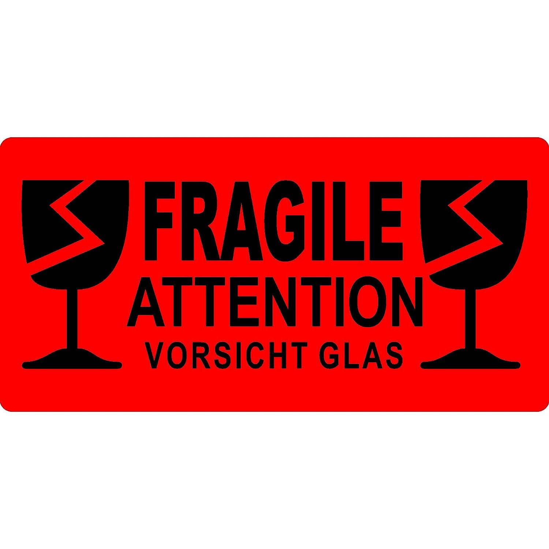 Aufkleber Fragile Attention Vorsicht Glas 210 X 148