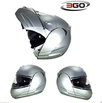 Cascos modulares 3GO E115 Casco Moto scooter flip Touring Casco modular up- Casco de carreras