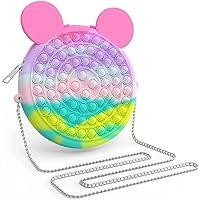 Pop It Shoulder Bag Fidget Toys , Rainbow Simple Pop Fidget Bag Toy , Popper Pop Bubble Fidget Sensory Toys , School…