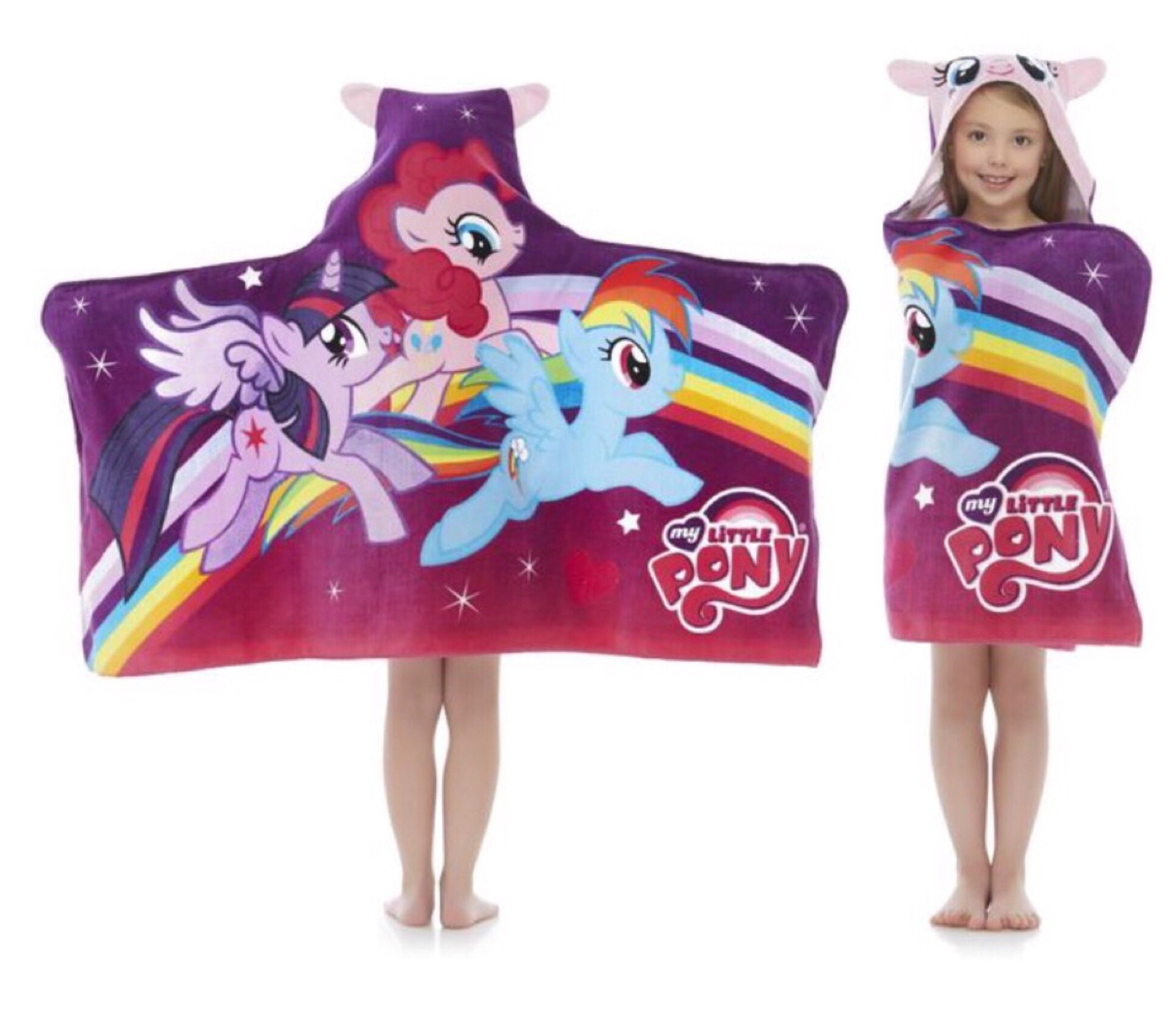 My Little Pony Hooded Beach Bath Towel Wrap - Kids