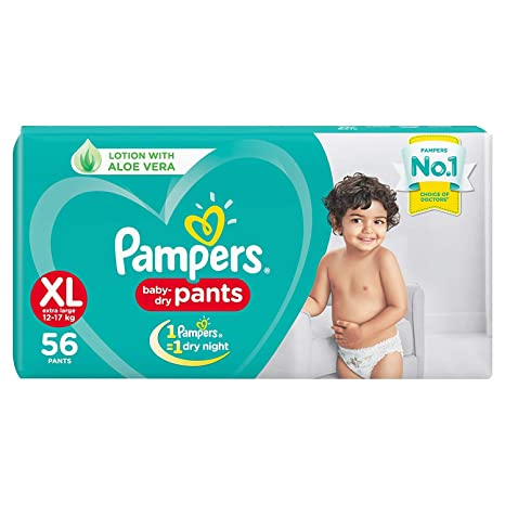 Image result for Pampers New Diapers Pants, XL (56 Count)