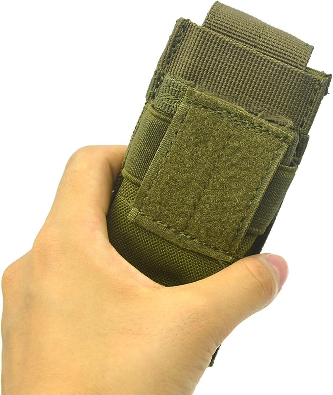 Elisona-Portable Mini Flashlight Torch Waist Belt Bag Hanging Pouch Outdoor Sports Climbing Hiking Cycling bag
