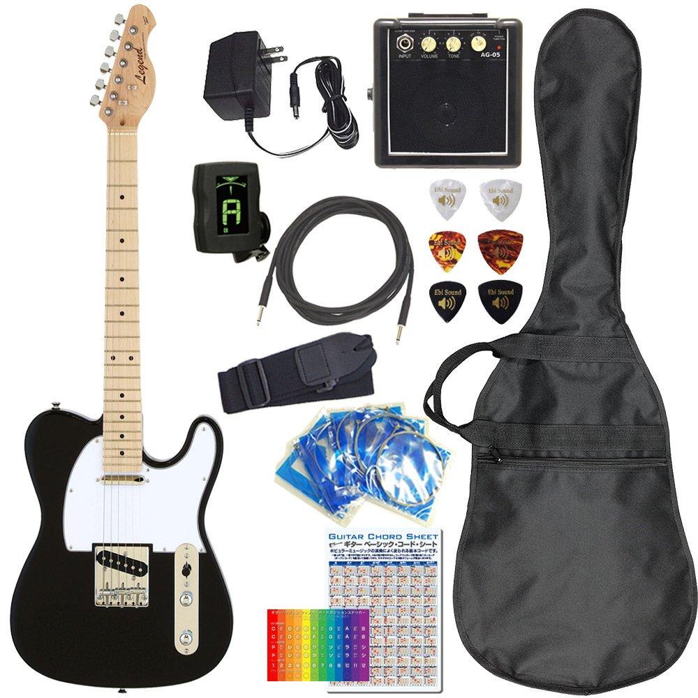 エレキギター 初心者セット テレキャスタータイプ ミニアンプ&アダプター付11点セット Legend LTE-Z BK/M [98765] B076FSZLTP BK/M(ブラック/メイプル指板) BK/M(ブラック/メイプル指板)
