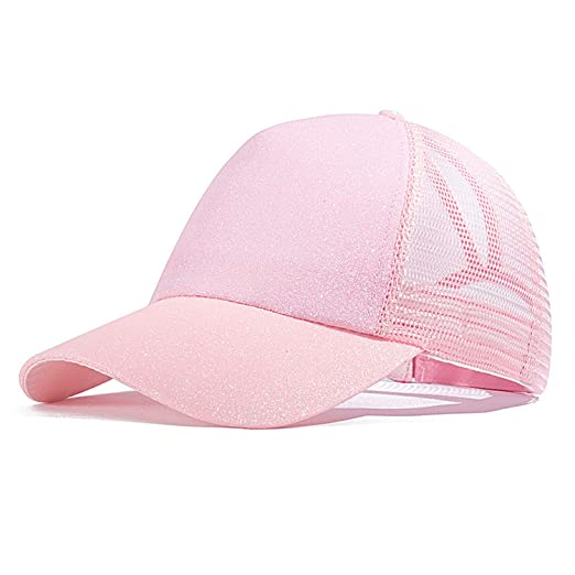 f86527d7e25c Image Unavailable. Image not available for. Color: 2019 Ponytail Baseball  Cap Women Messy Bun Snapback Summer Mesh Hats Casual Sport Caps