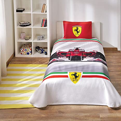 Copripiumino Ferrari.100 Cotton Ferrari Formula F1 Race Pique Bedding Duvet Cover Set