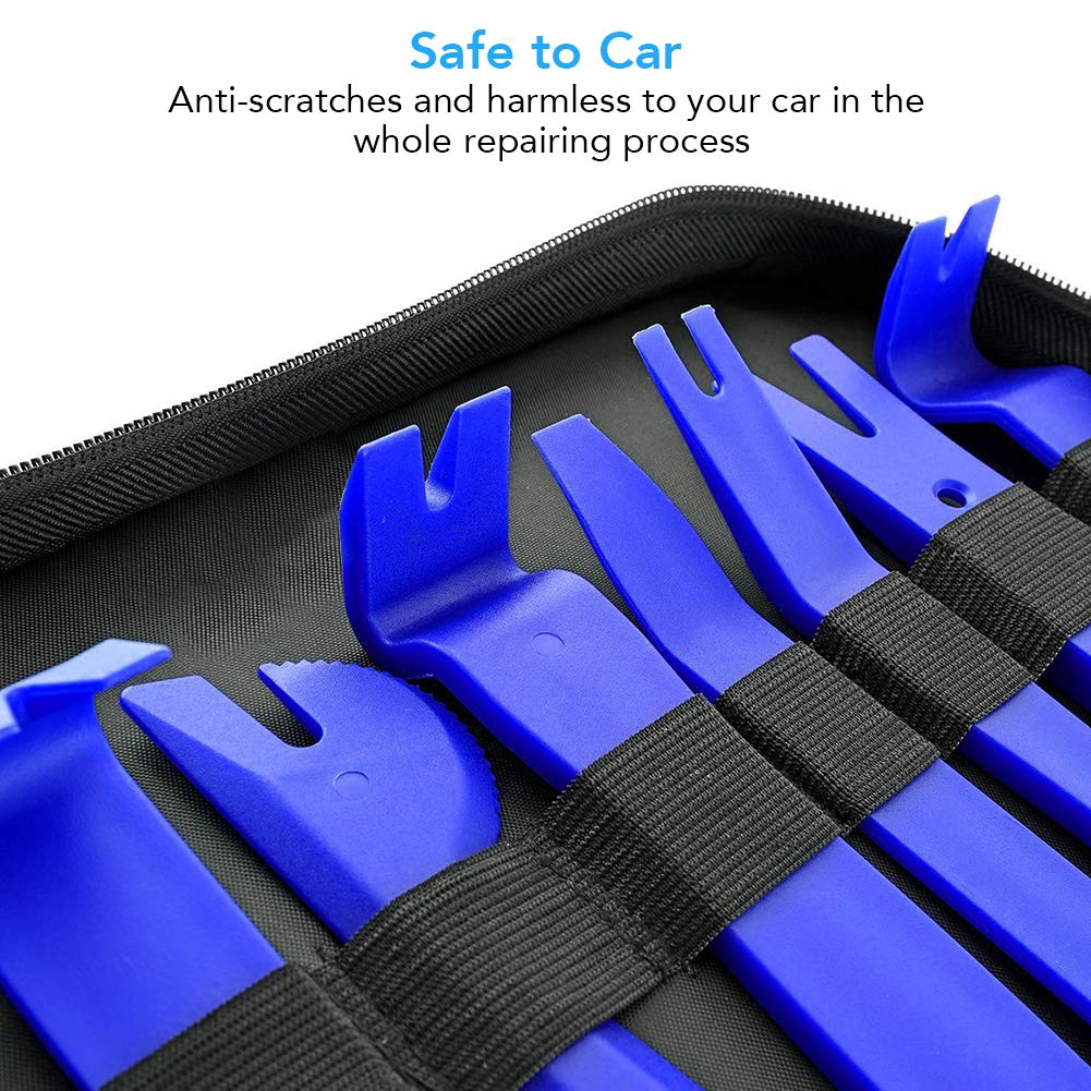 23pcs Car Trim Removal Tool Auto Door Panel Removal Tool Set with Clip Plier Set /& Fastener Remover for Dash Center Console Audio Radio Removal Installation and Remover Strong Nylon Pry Tool Kit