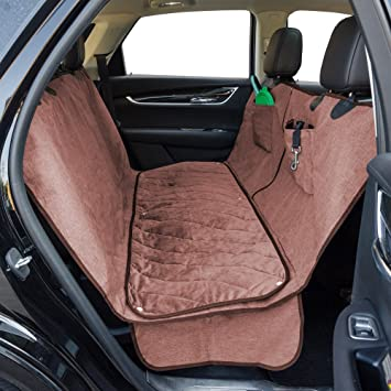 FURRY BUDDY Dog Car Seat Cover With Deluxe Removable Velvet Pad Fits Compact And Midsize