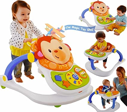 8eb0d9cf530f Fisher Price 4-in-1 Monkey Entertainer Infant Baby Play Feeding Seat ...