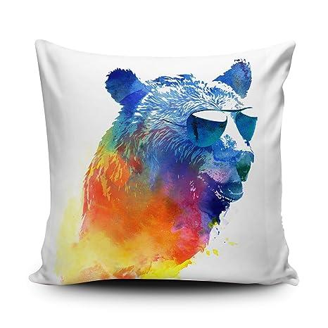 Cojín almohada oso, oso, Cool Bear funda de almohada, funda ...