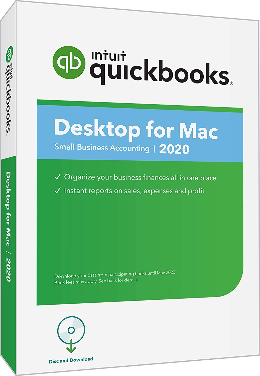 QuickBooks Desktopfor Mac 2020Accounting Software for Small Business with Amazon Exclusive Shortcut Guide [MAC Disc]