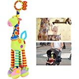 NUOLUX Kids Baby Bed Crib Cot Pram Hanging Giraffe Toy Pendant with Ringing Bell (Random Color)